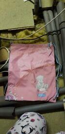 Pink drawstring me to you bag