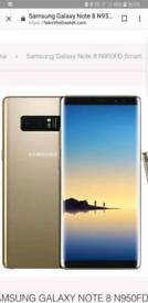 Samsung note 8 on ee and gold swap iphone