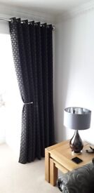 Charcoal Curtains. 90 x 90.