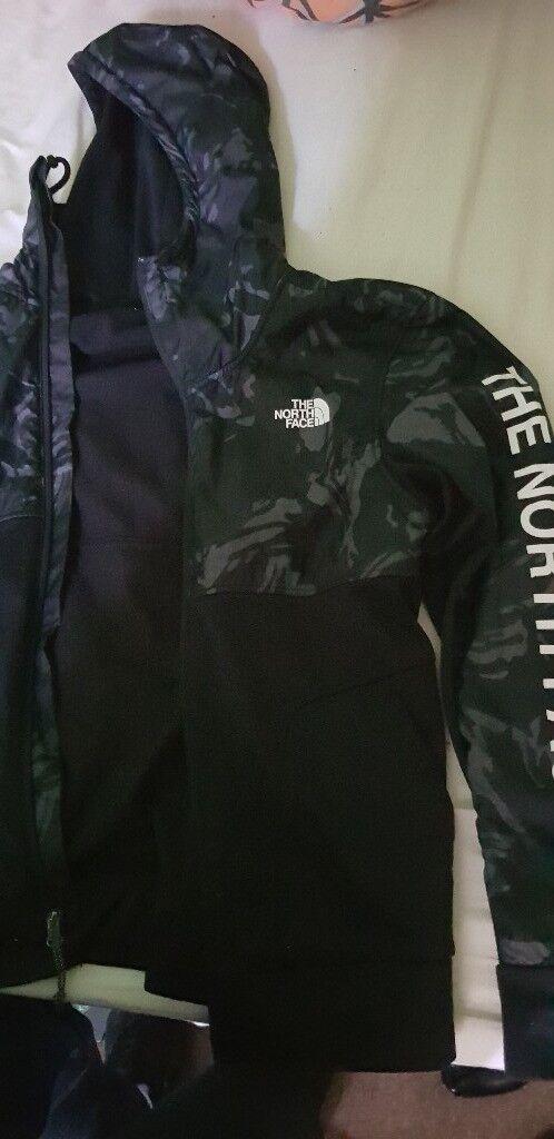 North Face Mens Camo Jacket Black Grey In Teignmouth