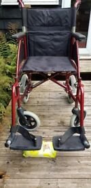 Foldable Wheelchair Excellent conditiion