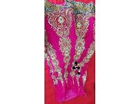 Shocking Pink and Navy Lengha