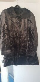 Ladies velvet soft touch coat size 26