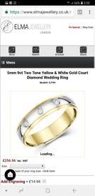 9k two gold Diamond Wedding Ring