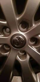 Vauxhall 17inch alloy and tyre