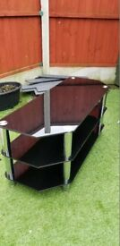 black and chrome tv unit , like new