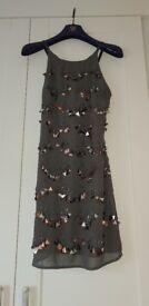 Sequin detail charcoal dress size m(10/12)