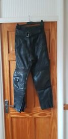 Size 10 ladies leather motor cycle trousers