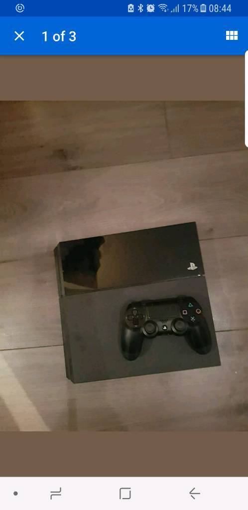 Playstation 4 with controller and 2 games cod fifa