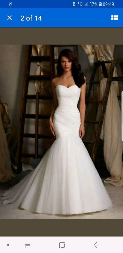 Wedding Dress Large Size 8 10 In Southampton Hampshire Gumtree