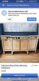 Fabulous Mirrored Sideboard Brand New