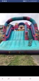 Bouncy castle clown slide