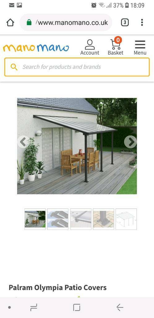 Palram Feria Patio Covers Grey In Northampton Northamptonshire