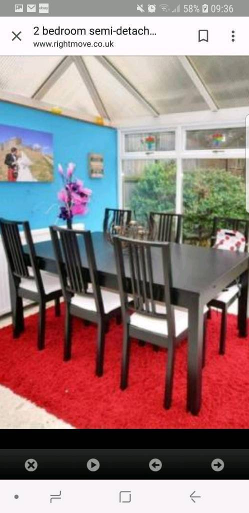 Extending Dining Table And 6 Chairs Barnton Edinburgh 15000 Images Map Iebayimg 00 S MTAyNFg0OTg