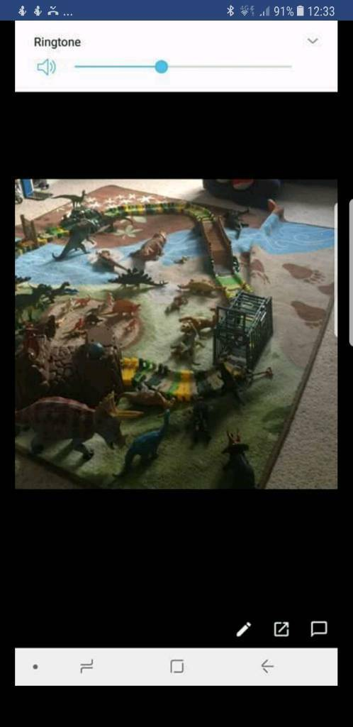 Elc dinosaurs and track and rug like Jurassic park Amazing!@
