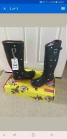 Brand new joules wellingtons