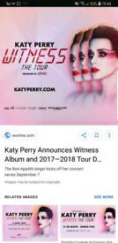 Katy Perry tickets x2 standing