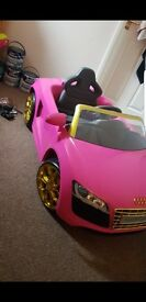 Childrens pink audi spyder!must see!!!