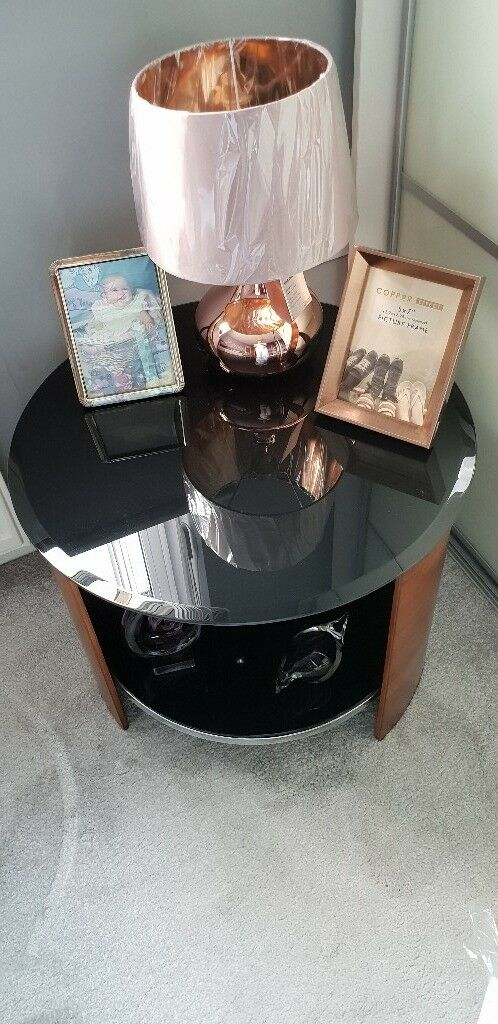 Jual Curve Walnut And Black Gl Tp Table Lamp