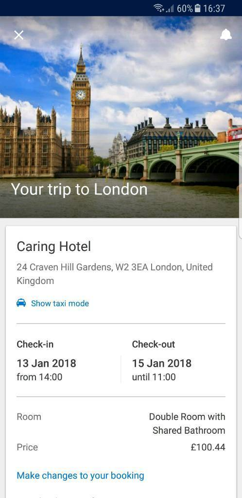 URGENT CARING HOTEL LONDON HALF PRICE