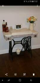 Singer side decorative table