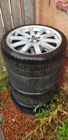 "19"" Volkswagen Alloy Wheels, READ DESCRIPTION"