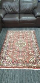 Genuine Handmade Persian Small Hamadan Beautiful Used Rug