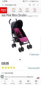 Joie pink nitro push chair (stroller)
