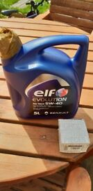 Elf 5w 40 fully synthetic oil and Clio sport filter