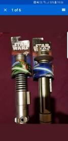 2x star wars light sabers