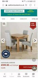 Ikea dining table with 4 chairs.