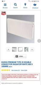 Double radiator brand new