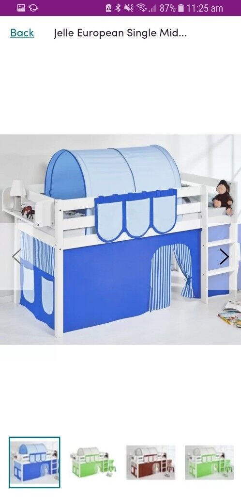 Kids Single Bunk Bed With Tent In Sheffield South Yorkshire Gumtree