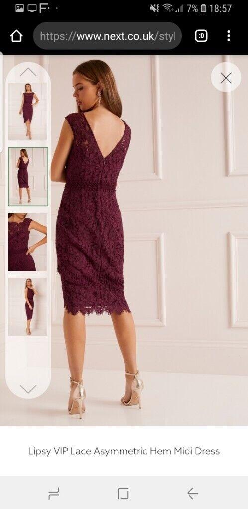 578bef4068 Lipsy VIP Lace Asymmetric Hem Midi Dress Size 18 | in Ballymena ...