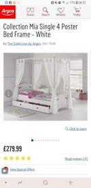 Girls single princess bed in pink