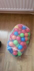 1 bag of Tesco ball pit balls