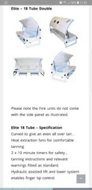 18 tube elite laydown home sunbed 3 months old with brand new tubes
