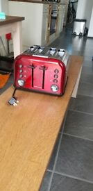 Candy Red Morphy Richards Toaster