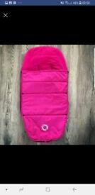 Hot pink bugaboo footmuff