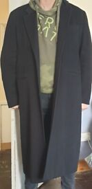 Crombie Style Wool / Cashmere Blend Overcoat by Agnes b - Worn Lightly