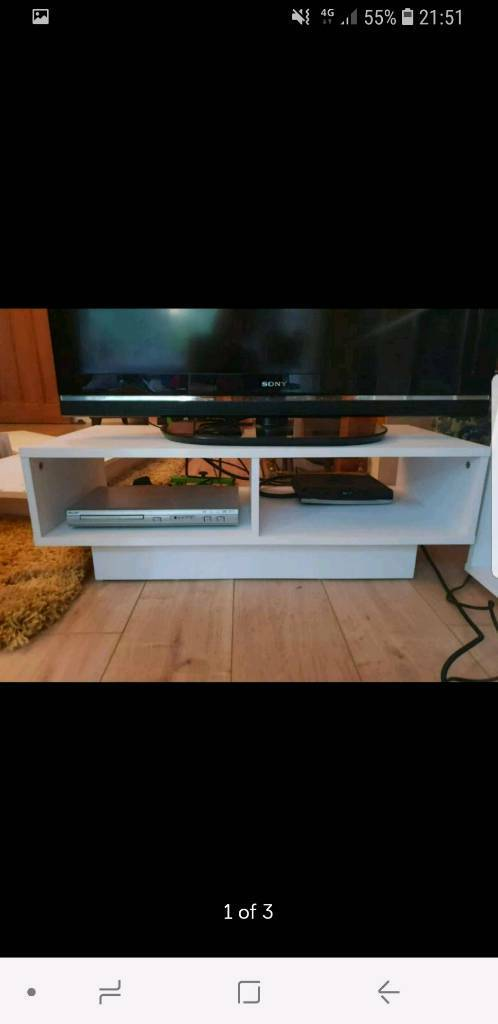 new style a62df c7a4d ARGOS WHITE CUBE TV UNIT STAND   in Ipswich, Suffolk   Gumtree