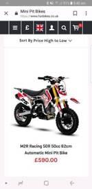 M2R 50cc automatic pit bike