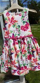 Girls lined beautiful summer dress - aged 5 years