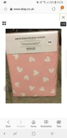 Mothercare pink heart curtains rrp £45 brand new x2 available