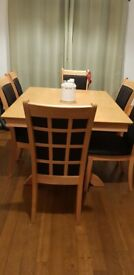 Expanding Dining Table+6chairs