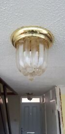 Flush Ceiling Light in Crystal Effect