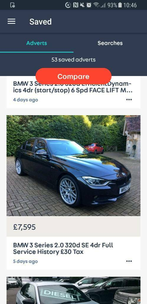2012 BMW 320D SE M.SPORT EXTRAS