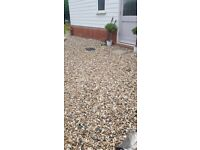 Up to 50m2 large stone shingle / garden gravel