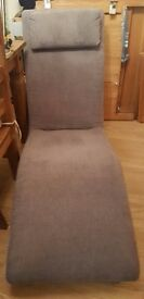 Soft cord grey reading/easy chair