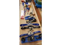 selection of hand tools planes spares woodwork